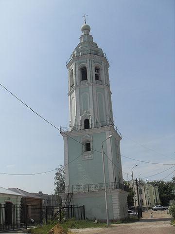 Колокольня Николо-Зарецкого храма в г. Тула (построен на средства Акинфия Никитича Демидова).