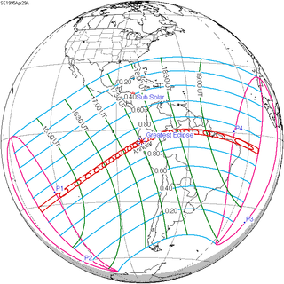 Solar eclipse of April 29, 1995 solar eclipse