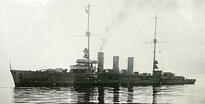 Cöln-class cruiser - Image: SMS Dresden (Light Cruiser) scuttled 17 June 1919