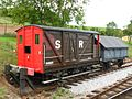 SR (ex-LSWR) brake van 54885 and LNER open 424123 at Washford.JPG