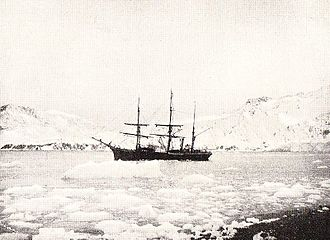 Carsten Borchgrevink - Henryk Bull's ship Antarctic in the pack ice