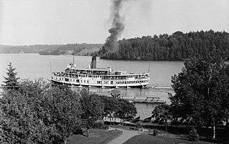 SS Sagamo - Image: Sagamo at Elgin House 1907