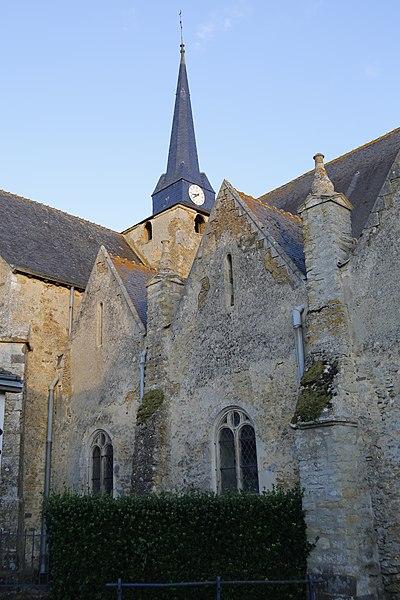 Fr:Église Saint-Médard de Saint-Mars-sous-Ballon: façade nord.