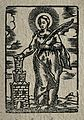 Saint Barbara. Woodcut. Wellcome V0031655.jpg