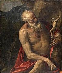 Saint Jerome meditating