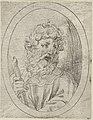 Saint Paul holding a sword, in an oval frame, from Christ, the Virgin, and Thirteen Apostles MET DP837908.jpg