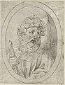 Saint Paul holding a sword, in an oval frame, from Christ, the Virgin, and Thirteen Apostles MET DP837908.jpg