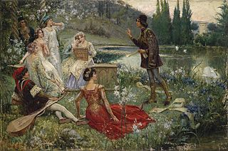 Scene of the Narration of the Decameron