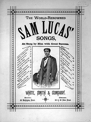 Sam Lucas - Cover for Sam Lucas' Songs