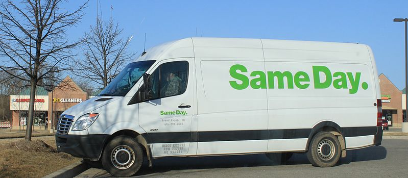 File:Same Day Delivery courier van Ypsilanti Township.JPG