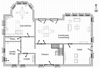 Floor plan - Sample main floor plan for a single-family detached home