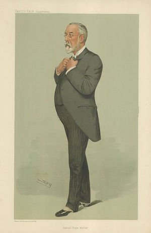 Samuel Morley, 1st Baron Hollenden - Vanity Fair caricature by Spy (Leslie Ward), 17 August 1905.
