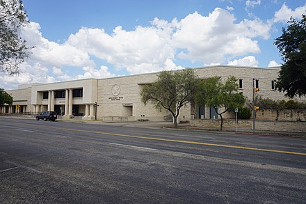 Judge Michael D. Brown Justice Center across from the Tom Green County Courthouse San Angelo September 2019 06 (Judge Michael D. Brown Justice Center).jpg