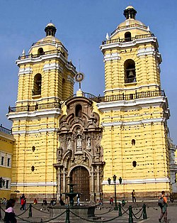 כנסייה במרכז לימה