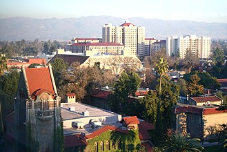 San Jose State University - Aerial view of San Jose State campus.