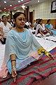 Sangita Ray in Kapalabhati - International Day of Yoga Celebration - NCSM - Kolkata 2015-06-21 7432.JPG