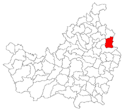 Location of Sânmartin