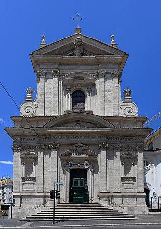 Santa Maria della Vittoria, Rome - Façade of Santa Maria della Vittoria