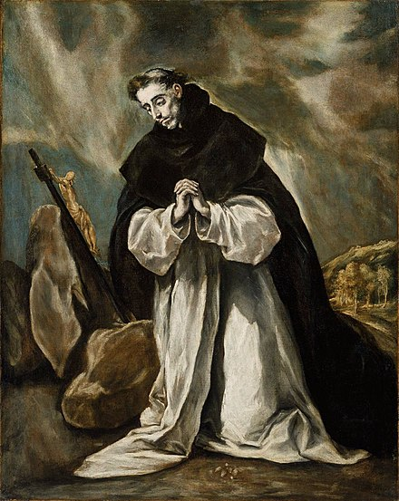 Saint Dominic in prayer by El Greco Santo Domingo en oracion (Boston).jpg