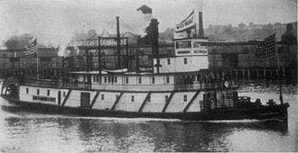 Sarah Dixon (sternwheeler) - Sarah Dixon with shortened upper cabins following 1906 reconstruction.