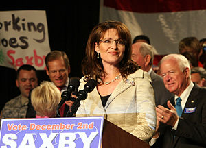 Sarah Palin was here Dec 1, 2008 helping Saxby...
