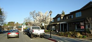 Saratoga, California - Main street through Saratoga.
