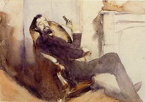 Paul César Helleu - Paul Helleu (watercolor), John Singer Sargent, c. 1882-1885