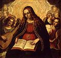 Sarinyena, Verge de l'Esperança amb àngels músics, Ca 1610.jpg