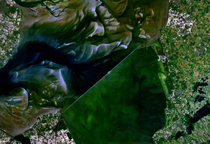 Afsluitdijk - Image from satellite.