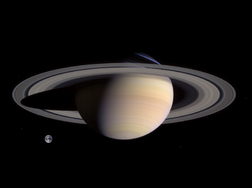 Saturn Earth Comparison