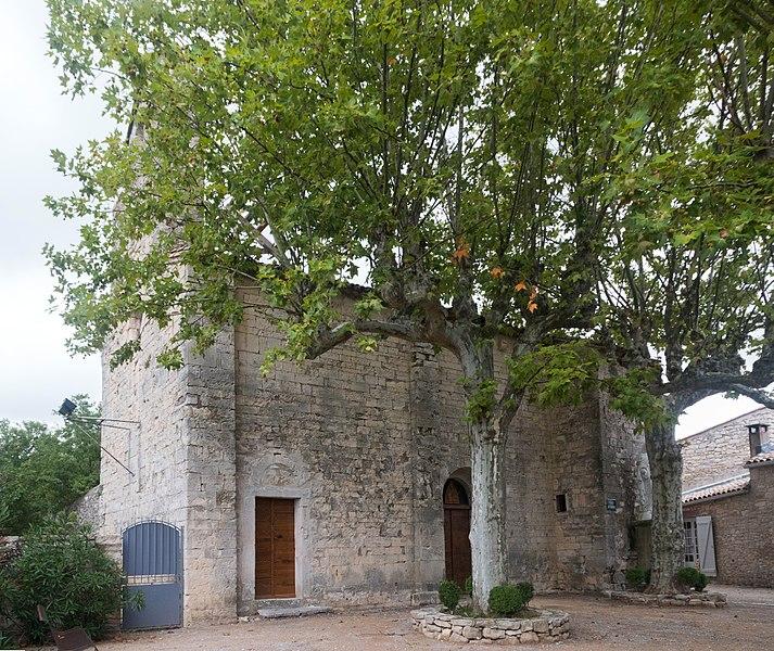 English:  Saint Martin Church Sauteyrargues, XIIth century.