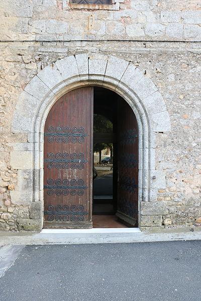 Sauvian (Hérault) - église Saint-Corneille-et-Saint-Cyprien - portail