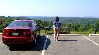 Scenic viewpoint - Scenic overlook in Scioto Trail State Park, Ohio