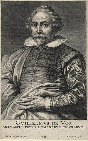 Schelte a Bolswert - Portrait of Willem de Vos, after Anthony van Dyck, engraved between 1632 and 1641.