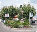 Schifferstadt, Kreuzplatz, Wegekreuz mit Barocksockel - 2016-09-17.jpg