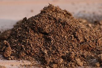 Sphagnum - Peat moss soil amendment, made of partly decayed, dried sphagnum moss.