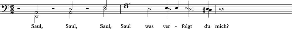 Schutz, Saul bars 1-2