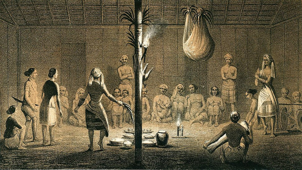 Schwaner Een Bilianfest der Dayakkers van Soengie Pattaym Jahre 1846
