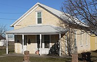 Scotland, South Dakota, Methodist church museum from SW 1.JPG