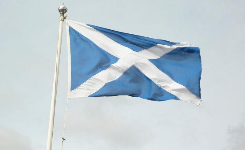 File:Scottish Flag - detail.JPG