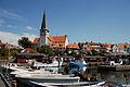 Sct. Nicolai Kirke as seen from the harbor of Rønne, Bornholm, Denmark, Northern Europe.jpg