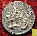 Scuola romana, medaglia di pio IV, castel s. angelo, argento.JPG