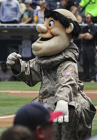 "San Diego Padres - The ""Swinging Friar""."