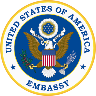 Embassy of the United States, Paris - Image: Seal of an Embassy of the United States of America