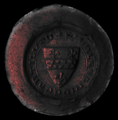 Seal of the Lords de Cantilupe; c.1301. Red Wax; the National Archives, UK. PRO 23-926.png