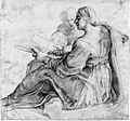 Seated Sibyl and Attendant Genius (recto); Study of the Head of a Horse in Profile (verso) MET 020.1r2 54J.jpg