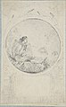 Seated man in circular medallion (design for a book illustration) MET DP805075.jpg