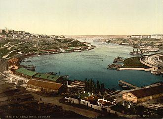 Sevastopol Naval Base - Image: Sebastopol vers 1905 photo couleur