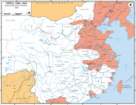 Map showing the extent of Japanese occupation in 1941 (in red) Second Sino-Japanese War WW2.png
