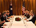 Secretaries Clinton and Panetta Meet With Australian Prime Minister Gillard, Foreign Minister Carr, and Defense Minister Smith (8185950256).jpg